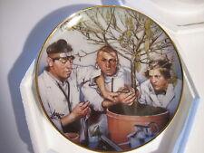 "Three 3 Stooges Collectors Plate ""Tree Surgeons"" Franklin Mint w/ Cert - Box"
