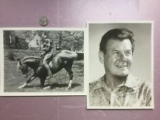 ARTHUR GODFREY (1903-1983) lot of 2 autographed signed and inscribed photos.