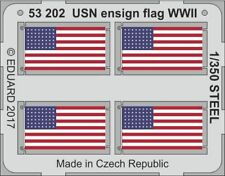Eduard PE 53202 1/350 USN ensign flag WW2 STEEL