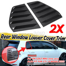 For VW Volkswagen Golf 6 MK6 GTI R 2010-2014 Side Window Louver Sun Shade Covers