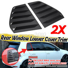 For VW Volkswagen Golf 6 MK6 GTI R 2010-2014 Side Window Louver Sun Shad