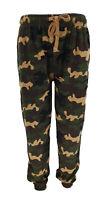 Mens Fleece Camouflage Camo Workout Joggers Trousers Sweatpant Jogging Bottom UK