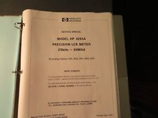 Hp 4285A Precision Lcr meter service manual 5107