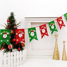 Xmas Tree Hanging Flag Garland Banner Bunting Ornament Gift Home Yard Shop Decor