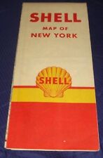 BR456 Vtg Shell Oil Co New York NY Road Map 1957
