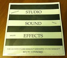 Studio Sound Effects by Bogas Software Apple Macintosh MAC for Studio Session