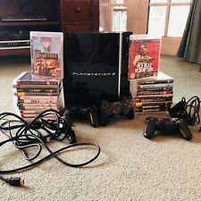 Sony PlayStation 3/PS3 Console + HUGE 23 GAME BUNDLE + 3 controllers + Camera