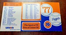1977   LOS ANGELES DODGERS   Pocket Schedule -  Union 76