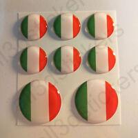 Pegatinas Italia Pegatina Bandera Italiana Redondas 3D Vinilo Adhesivo Relieve