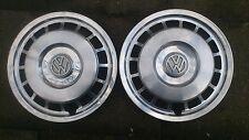 4 Edelstahl Radkappen original VW 13 Zoll Golf Polo Scirocco guter Zustand! Rar!