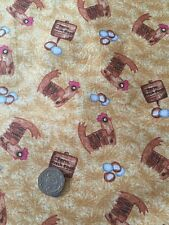 Blank Quilting Barnyard Boogie Hens Chickens Eggs Cotton Fabric FQ 50cm x 54cm