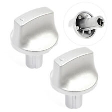 HOTPOINT Oven Cooker Knob Hob Genuine Silver Switch HUG HUL HUD Series x 2