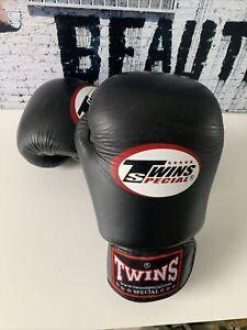 Twins BGVL3 Boxing Gloves Muay Thai Sparring MMA Kickboxing Black