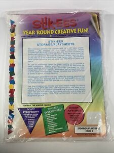 Vintage STIK-EES Storage Play Sheets Blank NOS Window Clings Decor Reuse 10x13