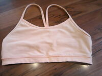 LULULEMON FLOW Y BRA IN tang light SIZE 8
