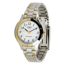 Casio MTP-1128G-7B Men's Dress Analog Easy Reader Quartz Dress Two Tone Watch