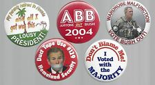 ANTI BUSH & CHENEY POLITICAL CAMPAIGN BUTTON COLLECTION - B