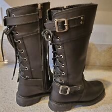 Harley-Davidson Alexa Women's Size 8 Black Leather Motorcycle Riding Boots 85167
