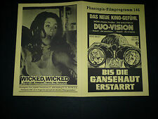 WICKED WICKED, 4pg German Phantopia Film program [David Bailey, Tiffany Bolling]