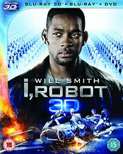 I, Robot (Blu-ray 3D + Blu-ray + DVD) with very rare limited slipcover