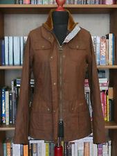 £199 Ladies Barbour Morris Utility waxed tan brown jacket size UK 10 US 6 EU 36