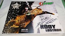 RARE AUTOGRAPHED KODY LOSTROH PBA 8 1/2 x 11 COLOR PHOTO DEPICTION WITH COA-
