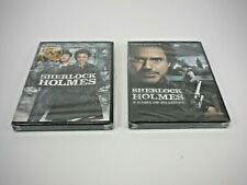 SHERLOCK HOLMES AND SHERLOCK HOLMES A GAME OF SHADOWS DVD (FACTORY SEALED)