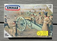 EMHAR 1/72 CRIMEA WAR 1854 - 1856 RUSSIAN ARTILLERY & FIGURES MODEL KIT 7208 F/S