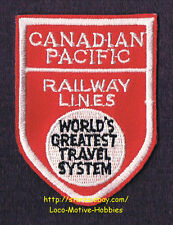 LMH Patch  CANADIAN PACIFIC RAILWAY LINES World's Greatest Travel System  CP CPR