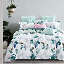 100% Cotton Quilt Doona Duvet Cover Set Pillowcase Bedding All Size Plantain