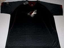 new concept d6351 1f1cc Arizona Coyotes V-Neck Cool Base Jersey Shirt 2XL Black Embroidered Logos  NHL