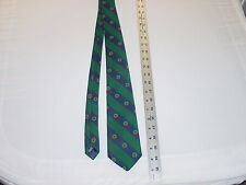 Christmas/Winter Novelty Tie, Green/Blue Christmas Wreaths, by Country Club