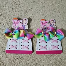 NEW Lot Of 2 JoJo Siwa Shoe Bows And Laces Pink, Blue, Purple, Green