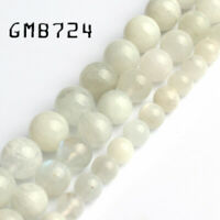 Natural Moonstone Bead Round Loose Beads for Jewelry Making Diy Bracelet 15''