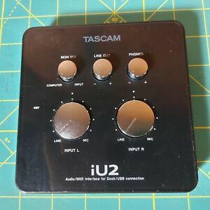 Used Tascam iU2 Audio MIDI Recording Interface For iOS iPhone iPad