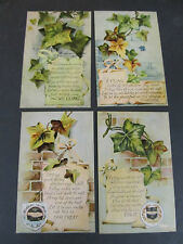 Vintage postcards, 4 Ivy, I cling quotes, series k 7, BB London all unused
