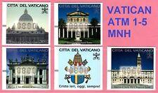 Vaticano * Vaticano * Vatican * Frama ATM 1-5 * MNH * MARCHI DISTRIBUTORI AUTOMATICI * CVP