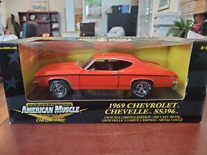 Rare 1969 Chevy Chevelle SS396 Orange 1:18 American Muscle ERTL DieCast MIB