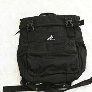 Adidas Women's Yola Backpack Black Emboss/Black/White Yoga Bag Travel Gym Soccer