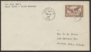 1936 AAMC #3619j Sept Iles PQ to Port Menier, Quebec Winter Service, No Cachet