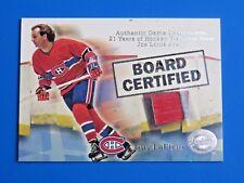 2001 FLEER GREATS OF THE GAME BOARD CERTIFIED ~ GUY LEFLEUR GU HOCKEY CARD