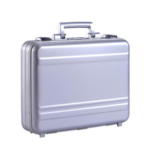 Portable Multifunctional Aluminum Breifcase Business Case Silver