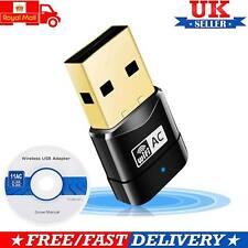 UK 600 Mbit/s Dual Band 802.11ac 2.4GHz 5GHz PC WiFi Adaptateur USB Réseau LAN Dongle
