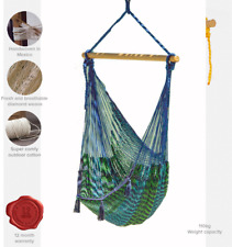 Extra Large Mexican Hammock Chair in Outdoor Cotton Colour Caribe