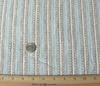 "French Antique Faded Blue & Maroon Cotton Flannel Fabric Yardage~L-94""X W-32"""