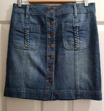 Ladies size 10 Button Front Denim Skirt - Target