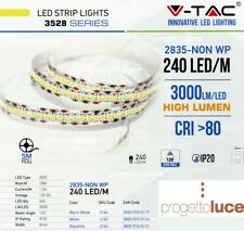 STRISCIA LED 1200LED V-Tac SMD Bobina 5mt Strip 2835 ALTA LUMINOSITA' IP20 NEW