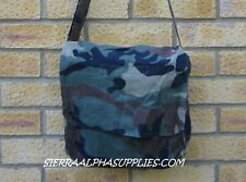 CROATIAN ARMY SURPLUS CAMOUFLAGE COTTON EQUIPMENT SHOULDER BAG-MAN,NBC,COURIER