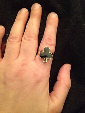 Harley Quinn Inspired Ace Of Clubs Playing Card Ring Poker  Up To Size Q