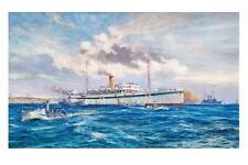 SOMALI as Hospital Ship WW1 Cape Helles Gallipoli modern digital Art Postcard